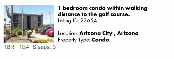 Click to view this snowbird rental on ArizonaSnowbird.com