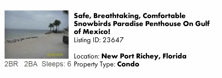 Click to view this snowbird rental on FloridaSnowbird.com