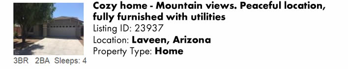 View this Laveen, AZ Multi-Month Snowbird Monthly Vacation Rental by Owner