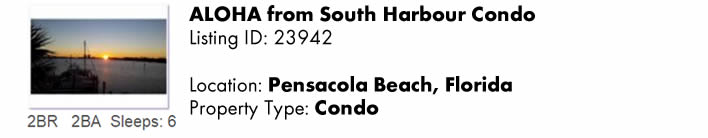 View this Pensacola Beach, FL Multi-Month Snowbird Monthly Vacation Rental by Owner