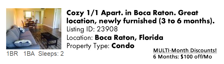View this Boca Raton Multi-Month Snowbird Monthly Vacation Rental by Owner