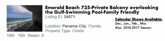 Panama City Beach, FL Vacation Rental - Multimonth Winter Snowbird Rental