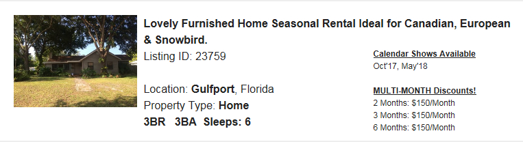 Gulfport-FL-Snowbird-Rental