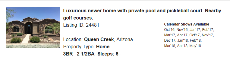 QueenCreek-AZ-Snowbird-Rental
