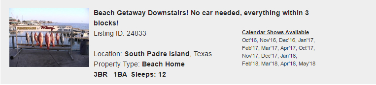 South Padre Island, Texas Snowbird Rental